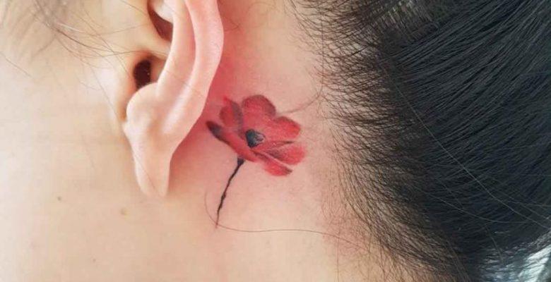 Kulak Arkası Dövme Modelleri