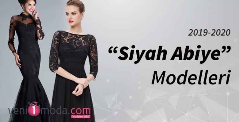 2019 Siyah Abiye Modelleri